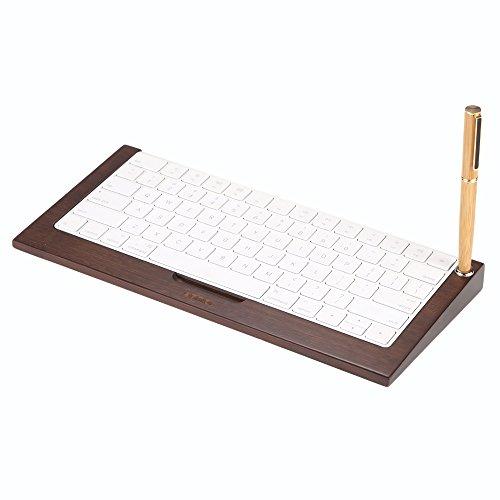 SAMDI Multifonctionnel Support de Clavier en Bamboo Sans Fil pour le Clavier Apple iMac Magic