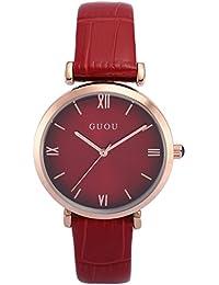 AMPM24 WK1234 Reloj Señora Cuarzo de Cuero Rojo