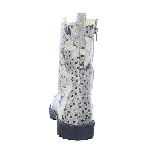 DOGO Damen Stiefel ZIPSY Black Dress Schnürboots Reißverschluss Grau Schwarz, Größe 39 - 4