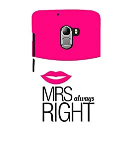 Vizagbeats MRS Right Always Back Case Cover for Lenovo Vibe K4 Note