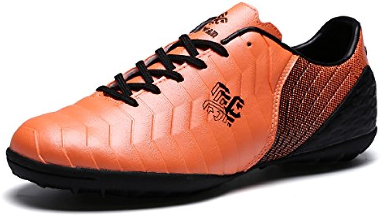 Toptak Herren Low Top Fußballschuhe Professionelle Trainers Orange Sneakers Männer