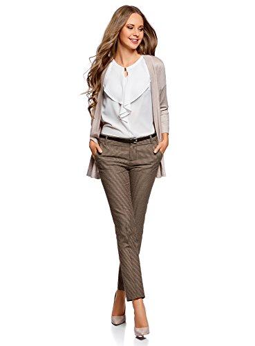 oodji Ultra Donna Pantaloni Basic con Cintura Beige (3337C)