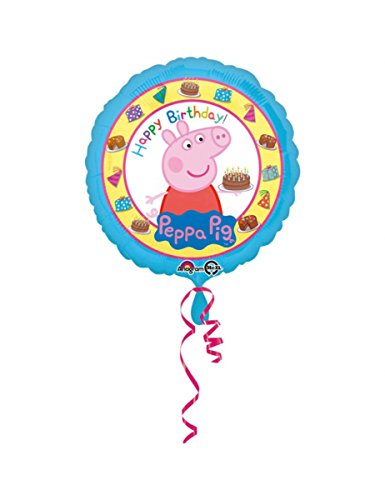 Ballon aluminium Happy Birthday Peppa Pig 43 cm - taille - Taille Unique - 239182