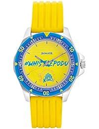 Sonata Chennai Super Kings Limited Edition Analog Blue Dial Men's Watch-7930PP13