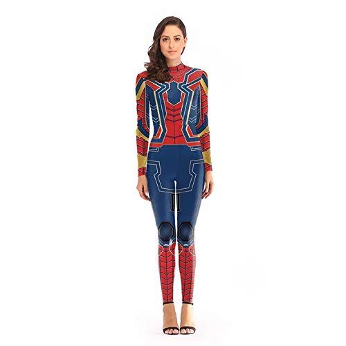 thematys Spiderman Kostüm für Damen - Spider-Man Anzug mit Fashion Print aus Polyester und Spandex