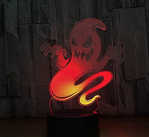 Nacht-Led Der Nacht Led Der Kinder Geist-3D Führte Lampe 7 Farbnachtlampen Für Kinder-Note Geführte Usb-Tabelle Lampara Lampe Babyschlafennachtlicht 7 Farben Spaß Spielen Geschenk (Spa Tabelle)
