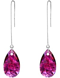 12fe963f4308 Amazon.es: Lagrimas de cristal - Plata: Joyería