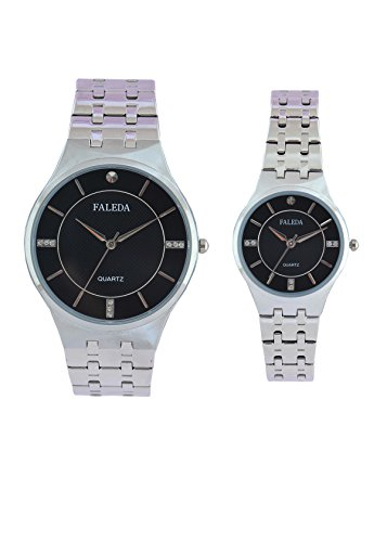 Faleda 6168PCHB Standred Analog Watch For Couple