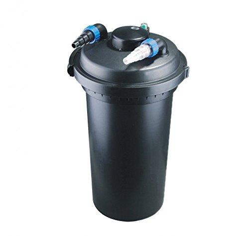 Aquaristikwelt24 CPF 500 Bio Teichfilter 30000l Druckteichfilter Druckfilter Bachlauf UVC Klärer Filter Teich Lampe Klar UV