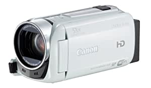 Canon Legria HF R46 Full-HD Camcorder (3,2 Megapixel, 32-fach opt. Zoom, 7,5 cm (3 Zoll) Touchscreen, 8GB Flash Speicher, bildstabilisiert, USB) weiß
