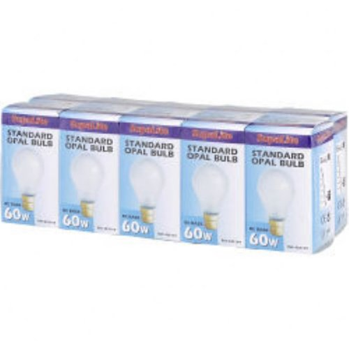 10 x 60w Watt Pearl Light Bulbs Bayonet Cap