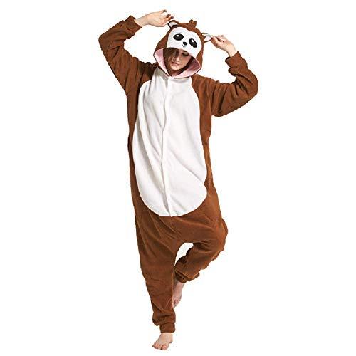 Pyjamas Damen Bekleidung Animal Erwachsene Unisex Morgenmäntel Schlafanzüge Karneval Onesies Cosplay Anime Carnival Paviane Spielanzug Kostüme Weihnachten Halloween Nachtwäsche