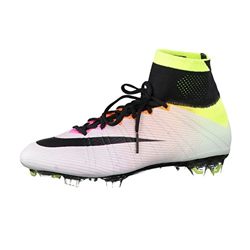 Nike Mercurial Superfly (FG), Chaussures de Football Compétition Homme, Weiß Weiß (White/Black-Volt-Total Orange_107)