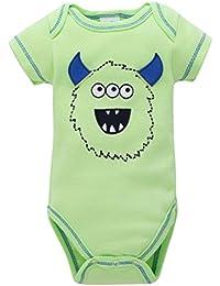 PAOLIAN Verano Conjuntos Ropa para Babe Niños Niñas Impresion de Animales Manga  Corta Monos para Recien Nacidos para bebés niños de… c773d1e0f345