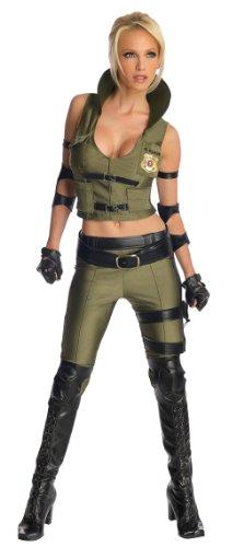 Mortal Kombat Sonya Blade Kostüm für Damen, (Kostüm Kombat Mortal Damen)