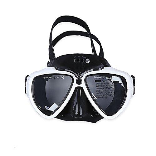 VILISUN Maschera Snorkeling Subacquea o Immersioni per camera GoPro con Supporto AMOVIBILE, Lenti Specchiate Antiappannamento Antipertite Vetro Temperato per Adulti &