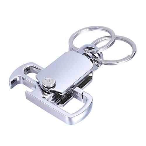 Vosarea Zinklegierung Schlüsselanhänger Galvanik Multifunktions-Flaschenöffner Schlüsselanhänger (Silber) -