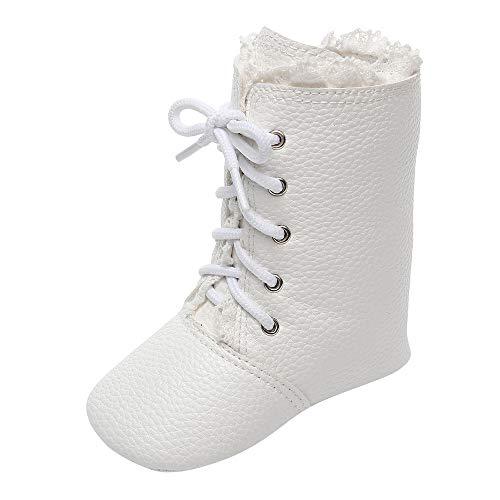 (Sonnena Weiche Sohle Stiefel Kleinkind Niedlich Schnürer Mittelrohrstiefel Boots Kinderschuhe Baby Mädchen Winter Herbst Schuhe Lederschuhe Rutschfeste Schneestiefel Lauflernschuhe …)