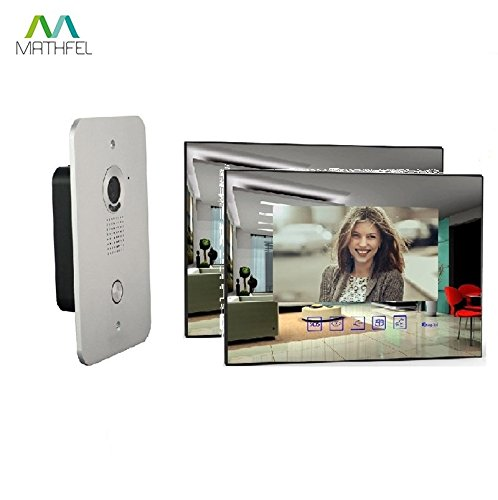 2 Draht Video Türsprechanlage Gegensprechanlage mit 7 \'\' Monitor (2x SpiegelGlas)