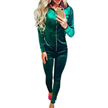 ad852e8d6e4 Ensemble Survetement Femme Ensemble Jogging Sport Femme Velours Sweat Shirt  à Capuche Zippé Sweatshirt Survêtements Ensembles