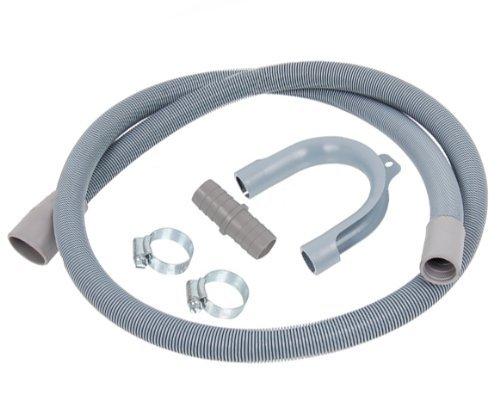 Prolunga per tubi di scarico di lavatrici e lavastoviglie, fascette stringitubo e giunti inclusi, lunghezza 1,5 m confezione originale