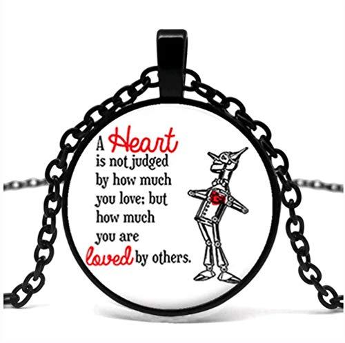 Herz Ist Nicht EIN Richter Glas Anhänger Halskette, Zauberer Von Oz Schmuck, Zauberer Von Oz Halskette. (Der Herz Oz Zauberer Von)
