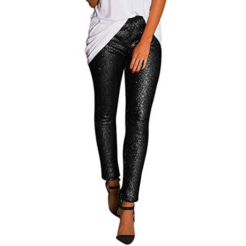 Sportswear-Hosen für Damen   NHNX Skinny Slim Fit Lange Pants   Glänzende Pailletten Sexy   Elegant Hohe Taille Elastische Fitness Workout Casual Streetwear for Arbeit Summer Yoga Sport -