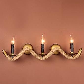 Corde de cuisine salon mur Lampes lampes rétro vintage industriel 3ampoules