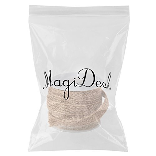 whobabe Spule von 5 m geflochten Sackleinen Jute Seil Craft Ribbon 10 mm (Craft Ribbon Sackleinen)