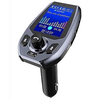 Laxstory-FM-Transmitter-Auto-Bluetooth-Radio-Adapter-Freisprecheinrichtung-Verbesserte-Version-des-18-Farbbildschirms-mit-Dual-USB-Ladegert-fr-IOS-Android