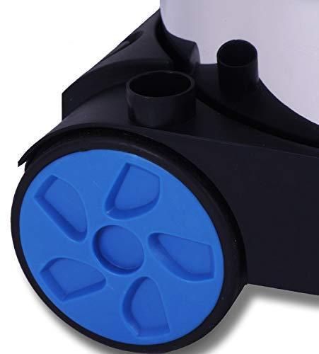 Masko® Industriestaubsauger – blau, 1800Watt ✓ Mit Steckdose ✓ Blasfunktion ✓ GS-Geprüft   Mehrzwecksauger zum Trocken-Saugen & Nass-Saugen   Industrie-Sauger verwendbar mit & ohne Beutel   Wasser-Staubsauger beutellos mit Filterreinigung - 4