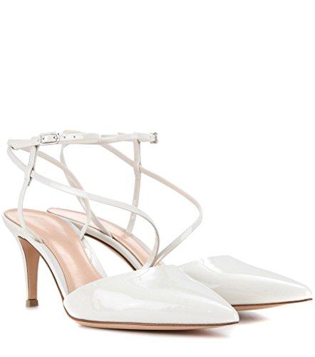 Kolnoo - Scarpe con cinturino alla caviglia Donna Bianco