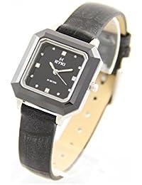 Eyki Femme MONTRE362 - Reloj , correa de cuero color negro