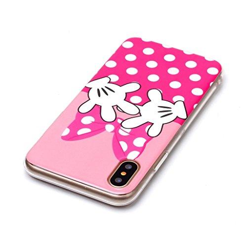 "Coque pour Apple iPhone X ,IJIA Transparent Caméra TPU Doux Silicone Bumper Case Cover Shell Housse Etui pour Apple iPhone X (5.8"") A8"