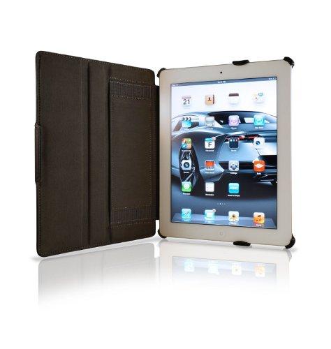 KHOMO Smart Rückenlehne schwarz-Schutzhüllen für Tablet (Rückenlehne, Apple, iPad 2, iPad 3& iPad 4, Schwarz)