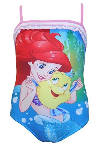 Mädchen Charakter Schwimmen Anzüge mit Halskrause Sommer Badeanzug Strand Schwimmbad Spaß - Disney Princess, 2 - 3 Years (Ariel Badeanzug)