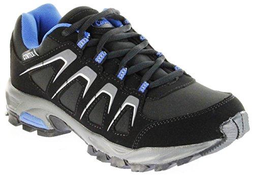 Conway Sportschuhe schwarz blau Softshell CONTEX Herren Damen Outdoor Schuhe Dakar, Größe:40 EU, Farbe:schwarz