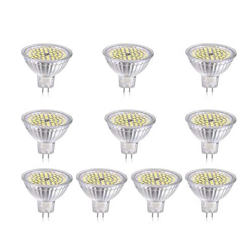 Sandy Cowper LED-Lampe, MR16, 5 W, Ersatz für 24 V Halogenlampen, 50 W, 5-poliger Sockel GU5.3 (Packung mit 10 LED-Bayonett) Warmweiß
