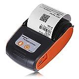 Tragbarer Bluetooth Drucker 58MM Bluetooth Thermodrucker Beweglicher Drahtloser Empfangs-Maschine Für Windows Android Ios,Orange