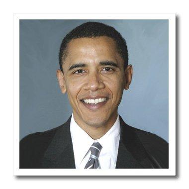 3dRose HT 5320_ 2Obama Barack-Iron auf Wärmeübertragung, 6von 15,2cm für weiß Material Barack Obama Sweatshirt