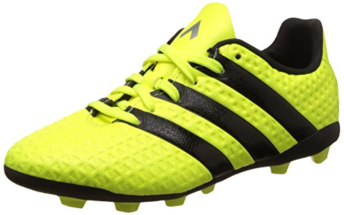 3. Adidas Boy's Ace 16.4 Fxg J Syello, Cblack and Silvmt Sports Shoes