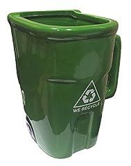 Idea Regalo - Tazza a forma di bidone con simbolo del riciclo, colore: verde