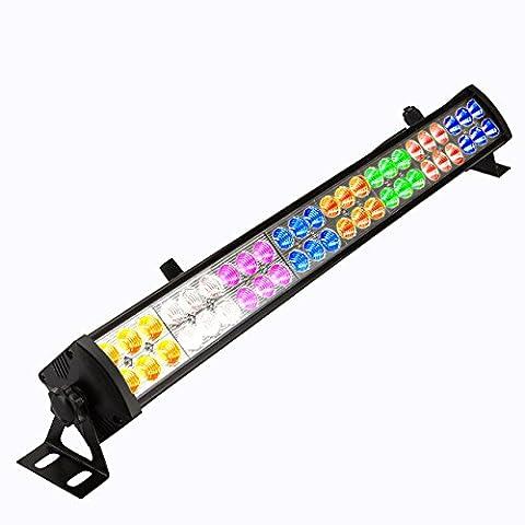 Eyourlife 48PCS 8 Colors x 6 LED DMX512 3/12Channal LED Wash Lighting Stage Lighting Led Par Wall Wash Disco
