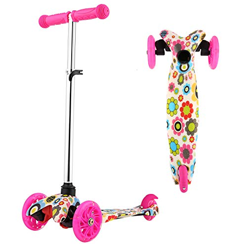 OUTCAMER Roller Kinder 3 Räder Roller Big Wheel Scooter Kinder Dreiradscooter Led Kinderscooter Kinderroller ab 2 Jahre