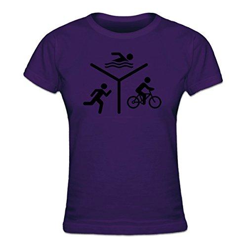 Shirtcity Triathlon Silhouette Logo Frauen T-Shirt by