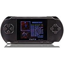 Polade 2.7inch LCD Wiederaufladbare Spielkonsole Retro Megadrive 16 Bit 150+ Spiele (schwarz)