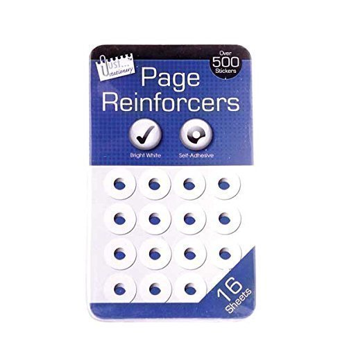 White Hole Page Filing Reinforcers Self Adhesive Pk 500 Home Office Test