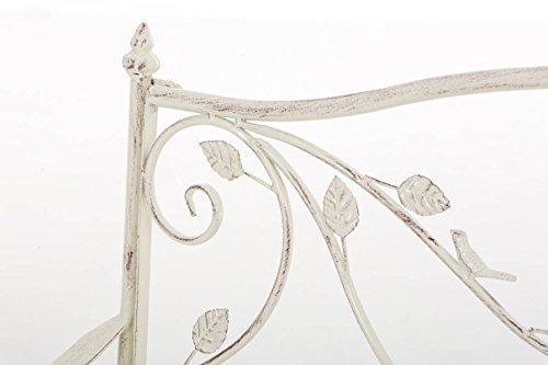 CLP Gartenbank MAGDA im Landhausstil, Eisen lackiert, 106 x 52 cm Antik Creme - 4
