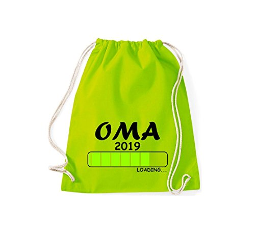 Shirtstyles Gym Sacco Turnbeutel Carico Oma 2019 Lime