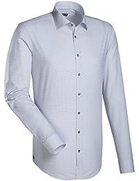 JACQUES BRITT Herren Hemd Slim fit Blue Label 1/1-Arm Bügelleicht City-Hemd Kent-Kragen Manschette weitenverstellbar